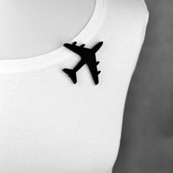 broszka filcowa samolot