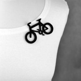 broszka filcowa rower