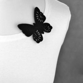 broszka filcowa motyl Rusałka