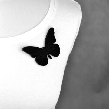 broszka filcowa motyl Zorzynek