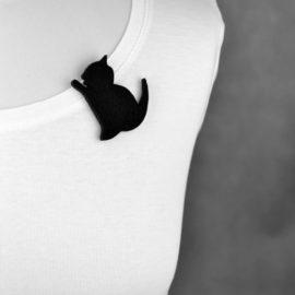 broszka filcowa kociak