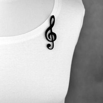 broszka filcowa klucz wiolinowy