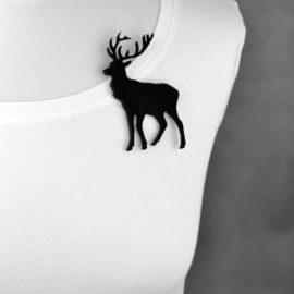 broszka filcowa jeleń