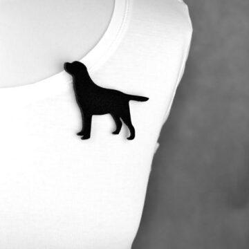 broszka filcowa pies Labrador