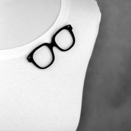 """broszka filcowa """"okulary dziadka"""""""