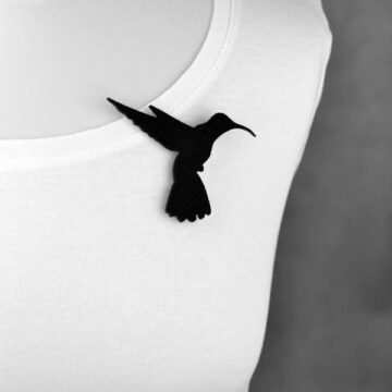 broszka filcowa koliber