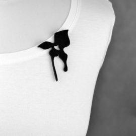 broszka filcowa storczyk mały