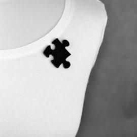 broszka filcowa puzzel 4