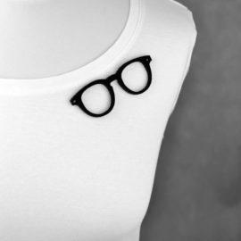 """broszka filcowa """"okulary mądrali"""""""