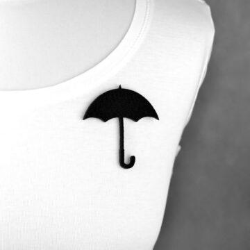 broszka filcowa parasol