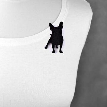 broszka filcowa pies Buldożek