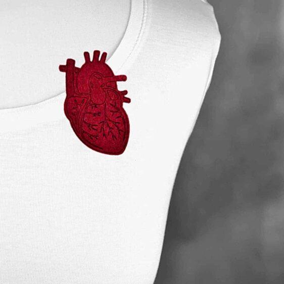 broszka filcowa serce
