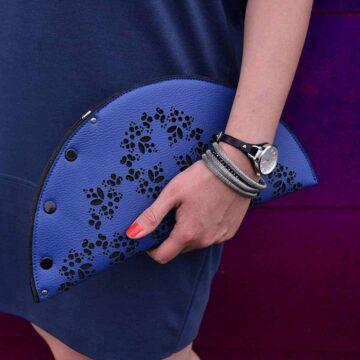 kobaltowa torebka-kopertówka KashubianCradle