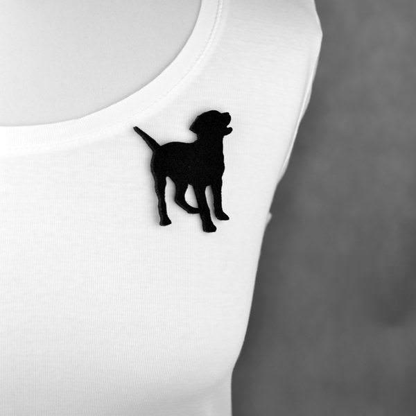 broszka filcowa pies Bunia