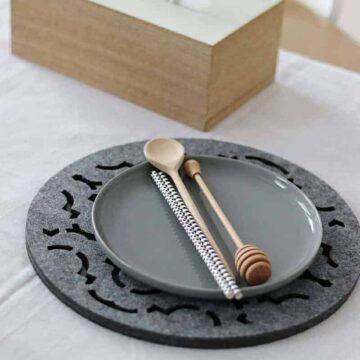 Podkładka filcowa w kształcie koła z marokańskim wzorem