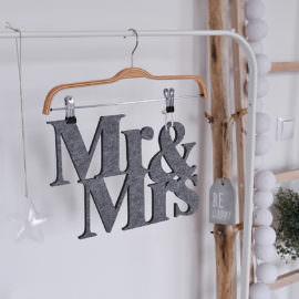Filcowy napis Mr&Mrs