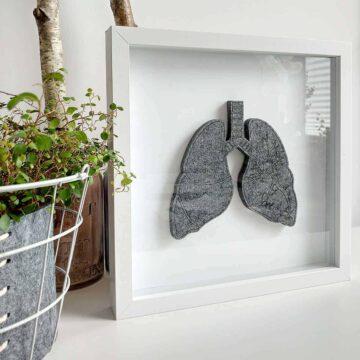 Obraz z filcowymi płucami