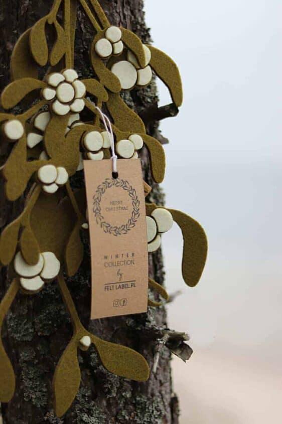Wyjątkowa dekoracja – filcowa jemioła