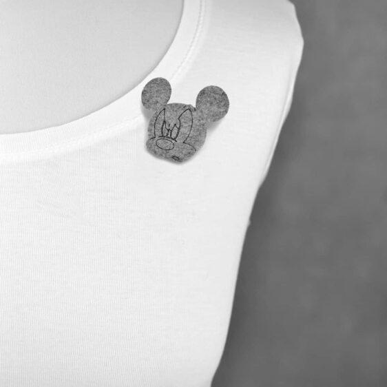 Broszka filcowa zła mysz