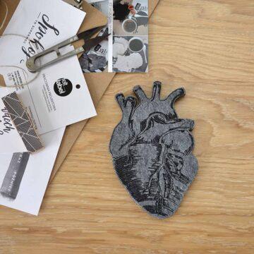 Filcowe serce do dekoracji