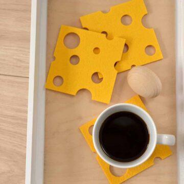 Podkładka filcowa w kształcie plastra sera