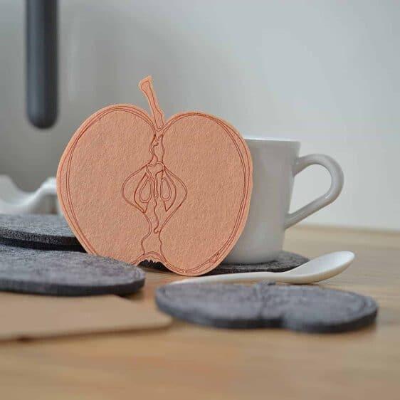 Podkładka filcowa w kształcie plastra jabłka