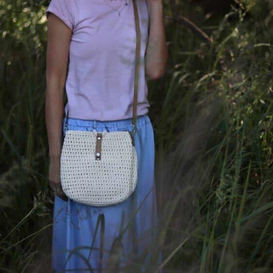 Kremowa torebka ze sznurka Becca limitowana edycja rozmiar M