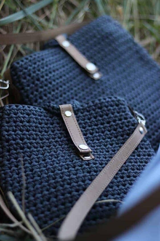 Grafitowa torebka ze sznurka Becca limitowana edycja rozmiar S