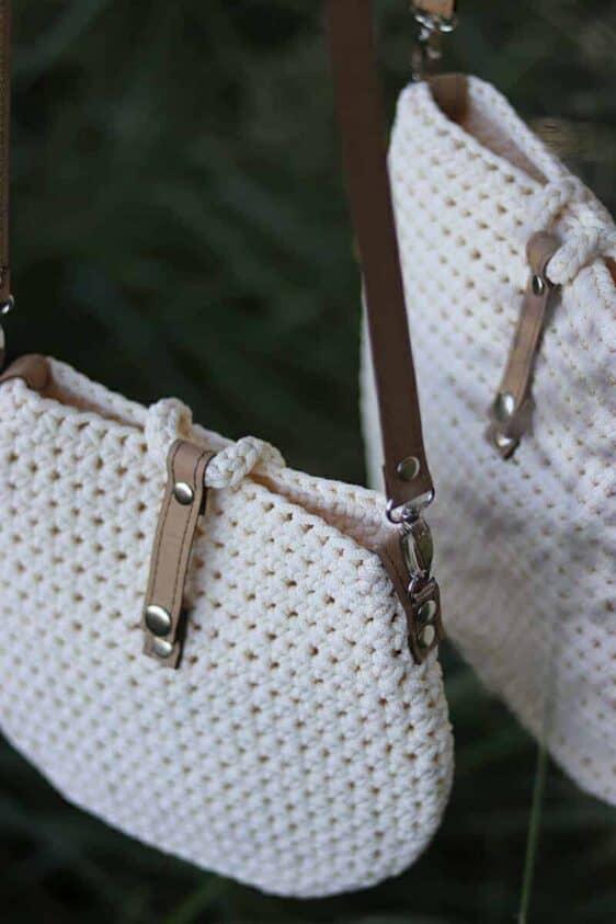 Kremowa torebka ze sznurka Becca limitowana edycja rozmiar S