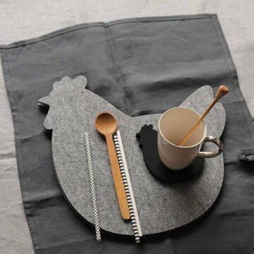 Podkładka filcowa pod talerz kura