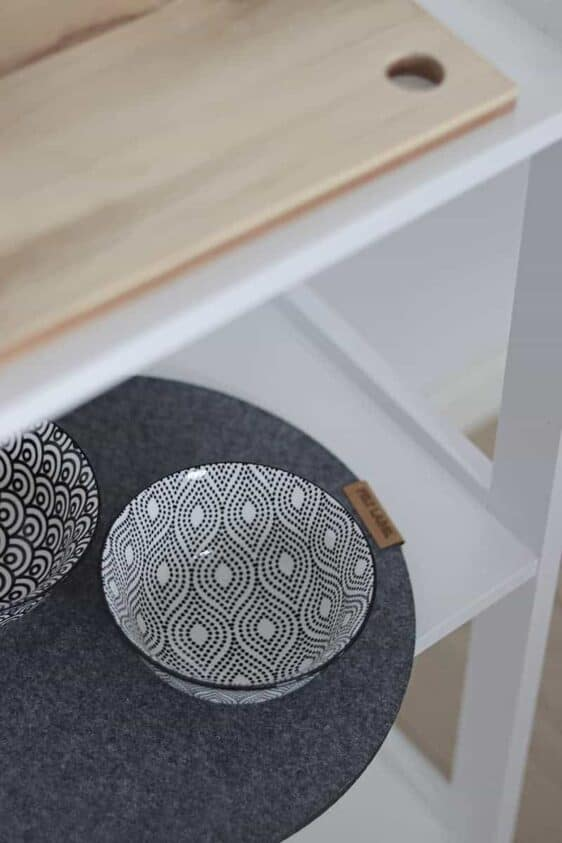 Duża podkładka filcowa w kształcie koła