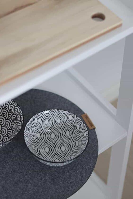 Podkładka filcowa pod talerz koło